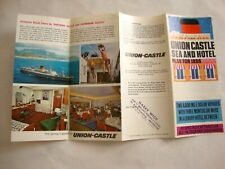 UNION CASTLE FROM ENGLAND TO SOUTH AFRICA 1966. Brochure cruis, CROISIÈRE