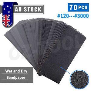 70X 120-3000 Grit Wet and Dry Sandpaper Waterproof Sanding Paper Sheet Assorted