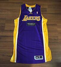 "Adidas NBA Authentic LA Lakers Rev30 Purple Blank Jersey Mens Sz Large +2"" NEW!!"