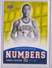 2013 Upper Deck Kansas Distinguished Numbers #DN8 Darnell Valentine Mint SP KU