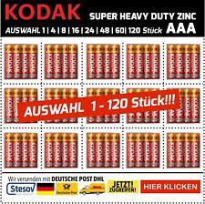 Kodak Super Heavy Duty AAA Micro Batteries 1200mAh 1,5V LR03 Selection