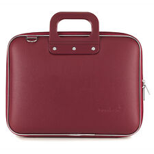 "Bombata - Burgundy Red Medio Classic 13"" Laptop Case/Bag with Shoulder Strap"
