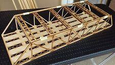Laser Cut OO Gauge Four Track Model Railway Girder Bridge Kit 3mm MDF 80cms Long