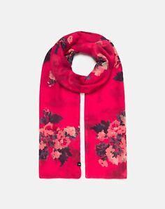 Joules Damen 211179 bedruckt Schal-rosa Blumenmuster-One Size