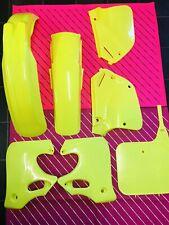 Cr 250 1992 1993 1994 Neon Flo Yellow Ufo Plastic Kit Evo Honda 92 93 94