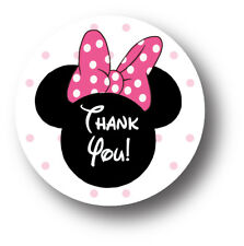 30 Minnie Mouse Birthday Party Invitation Stickers - Thank You!