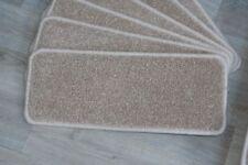 14 Open Plan Carpet Stair Treads Plain Splendid Cream Quality 14 Large Pads