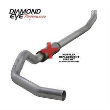"Diamond Eye K5238A-RP 5"" Turbo-Back Exhaust, Single, Off-Road, Alum"