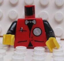 Lego Minifig Torso Red with Bow Tie - Informaniac - New