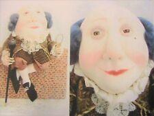 "HUMPTY DUMPTY~SUZETTE GLASTONBURY RUGOLO 14"" (35cm) cloth art doll pattern"