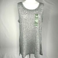 RBX Womens Size Large Workout Tank Top Heather Gray Polyester Linen Blend