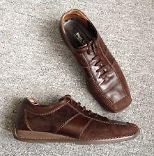 Paul Green Damen Sneaker Gr. 38,5 UK 5 1/2 Echt Leder braun Schnürschuhe