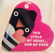 You Stole My Heart...And My Food - Heart Shaped - Storage Tin - Pink - Brand New