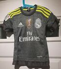 Real Madrid #7 RONALDO 2015-16 Kid's Away Football Shirt Size 36/38 Grey