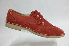 TED BAKER London Suede Red Sz 13 Men Wingtip Derby Dress Shoes