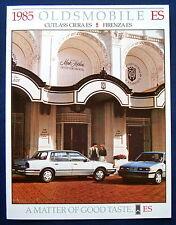 Prospekt brochure 1985 Oldsmobile Cutlass Ciera ES * Firenza ES (USA)