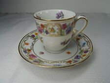 Winterling Dresden Rich Demitasse Cup and Saucer. Gold Trim Floral Pattern.