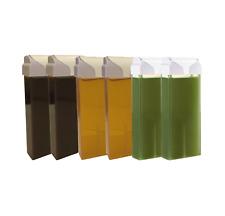 ROLL-ON Hot Wax Roller Cartridge Hair Removal Depilatory 100ml X6 Waxing Mix SET
