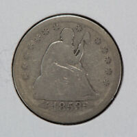 1853 25c SEATED LIBERTY QUARTER WITH ARROWS & RAYS LOT#N471