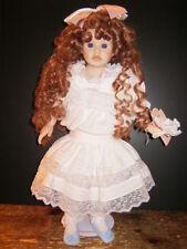 "Vintage & Rare Porcelain Doll By Pauline Limited Edition ""Georgianna"" -New-Last"