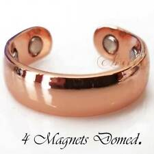 PREMIUM 4 MAGNET SHINY PURE COPPER MAGNETIC RING BANDED MEN WOMEN SIZE 7 CR12B
