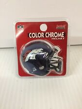 8 Riddell NFL Kansas City Chiefs Mini Helmet Pocket Chrome Football MIP