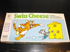 Vintage 1974 Swiss Cheese educational game Milton Bradley #4471