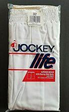 Vintage 1991 Jockey Life Tapered Boxer Shorts Mens Sz 32 Racing Side Vents White