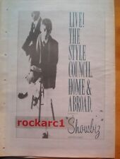 STYLE COUNCIL Home & Abroad 1986 UK Poster size Press ADVERT 16x12 inches