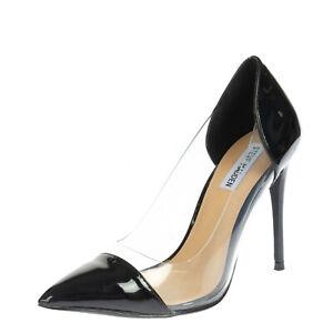 STEVE MADDEN Court Shoes EU 39 UK 6 US 8.5 Varnished Transparent Trim Heel