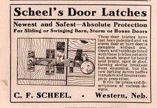 1911 AD C F SCHEEL WESTERN NEB BARN STORM HOUSE DOOR LATCH LOCK