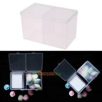 Clear Plastic Cotton Pad Swab Box Storage Organizer Holder Cosmetic Makeup Tool