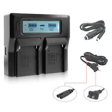 Dual Digital Battery Charger with LCD Screen For Sony NP-F970 F960 F950 F750