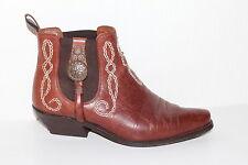 80er Vintage Leder Stiefeletten Ankle BOOTS Pistol Booties 38 80s UK5 BIKER 80s