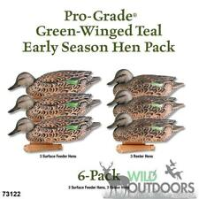 GHG - PRO-GRADE GREEN-WINGED TEAL/DUCK DECOYS - 6 Hen Pack
