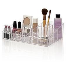 Ladies Cosmetic Vanity Organizer Women Dressing Room Table Top Make Up Storage
