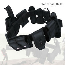 Tactical Police Guard Equipment Belt With 9 Pouches Utility Security System CA