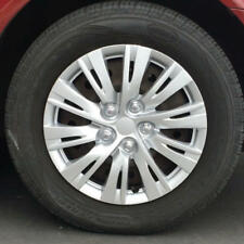 16 Inch Sporty Silver Hubcaps OEM Replacement Car Wheel Covers (4 Pack)