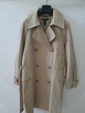 Ralph lauren trench giubbotto jacket giacca tg  M donna woman doppiopetto beige