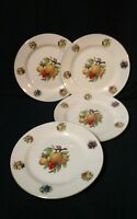 """Set of 4 Formalities by Baum Brothers Bros 7 1/2"""" Salad Plates Summer Fruit"""