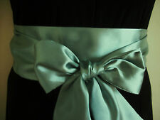 """3.5x60"""" SAGE GREEN SATIN FABRIC SASH BELT SELF TIE BOW FOR PARTY OCCASION DRESS"""