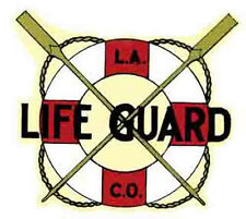LOS ANGELES County LIFEGUARD Vintage-Style Travel Decal