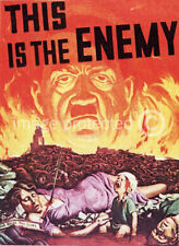 This Is The Enemy Adolf Hitler WW2 US Military Army Vintage Poster 18x24