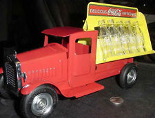30s  COKE COCA-COLA TRUCK BOTTLE DIECAST bottle glass  Gearbox collectible NIB