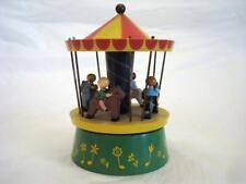 Vintage Reuge Swiss Music Box Wood Carousel - Sounds Nice