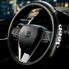 "15"" Car Steering Wheel Cover Genuine Leather For Jeep New"
