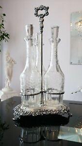 Antique, Silver Plated Wine Bottle Holder.