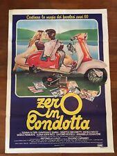 MANIFESTO 2F M,ZERO IN CONDOTTA,1983, RICCI,VESPA LAMBRETTA INNOCENTI MOTO SEXY