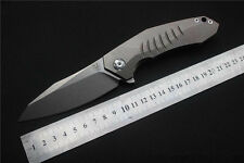 B001688 Viteli TOP1 100% S35VN Stone Wash Blade &TC4 Titanium Handle Plane Knife