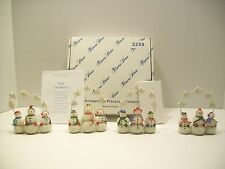 PRINCESS HOUSE SNOWPEOPLE PLACECARD HOLDERS Set of 4 Christmas #2259 Free Ship